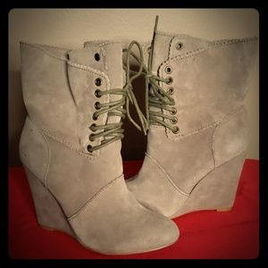 Betsy Johnson Daynaa Lace Up Booties
